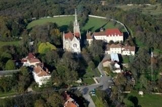 Vue aérienne du Mont Roland